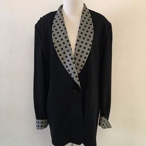 Christian Dior Black Blazer with Polka Dots 18